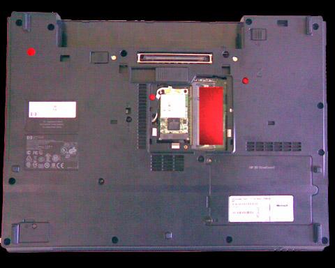 HP Compaq 6715b - Etape 2 - Compartiment d'extension de mémoire DDR2